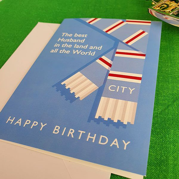 Best Husband in the Land City Birthday Card
