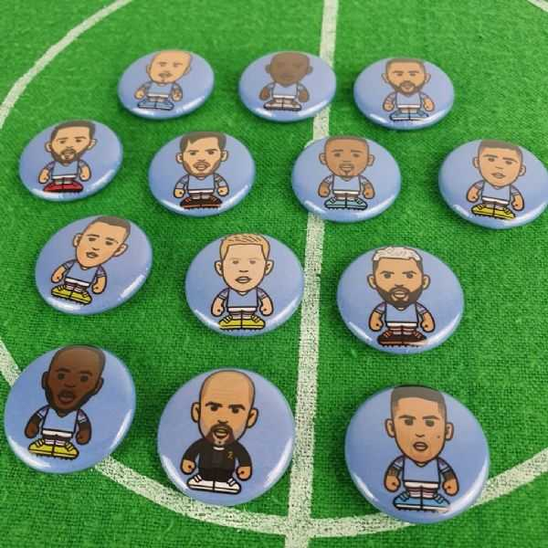 City Player Button Badges