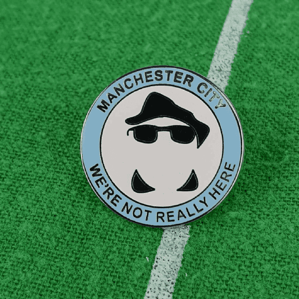 Invisible Man Pin Badge
