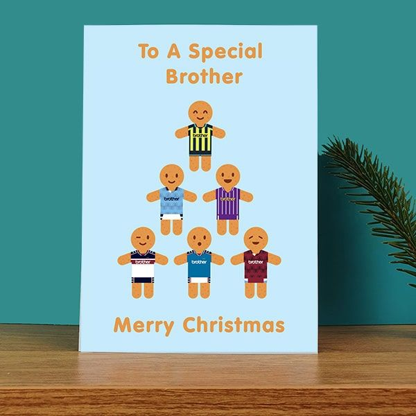 Special Brother Gingerbread Men Kits Christmas Card