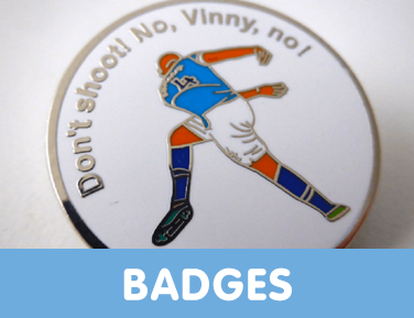 Man City pin badges featuring goals, legends, players and iconic parts of Man City's history