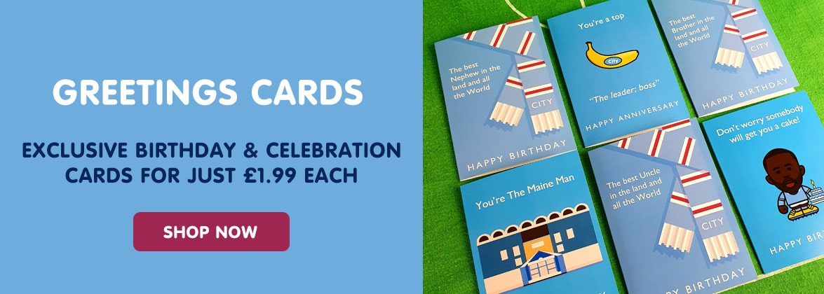 Manchester City birthday greeting cards