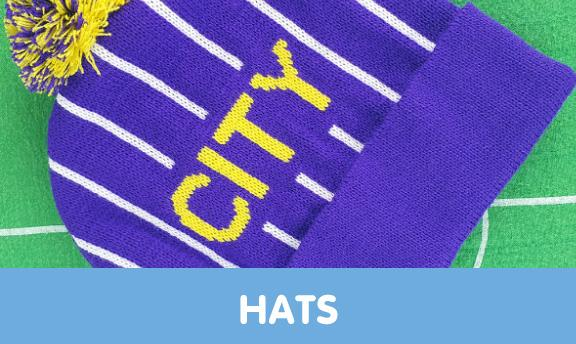 Manchester City bobble and bucket hats